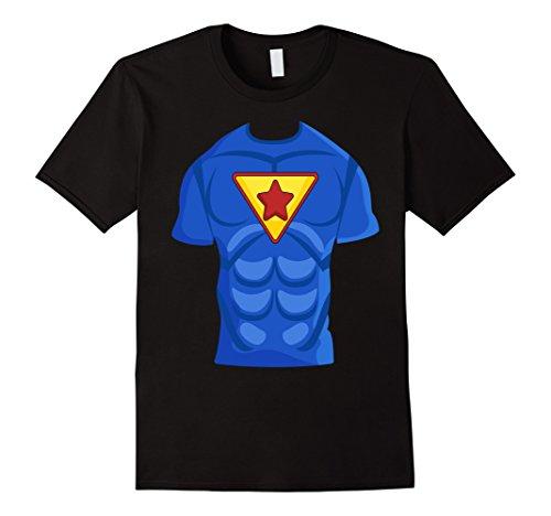 Mens Halloween Funny T Shirt Costume Men and Women Superhero XL Black