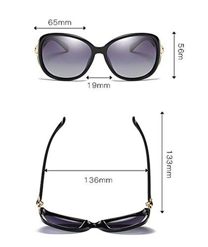 Chickwin Shade UV400 Femmes Wayfarer Mode soleil Lunettes Protection Marron Retro de Cool polarisées q1w4qZr
