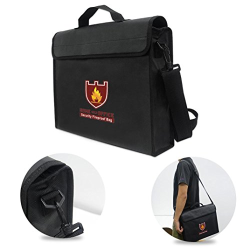 Price comparison product image Rucan Fireproof Bag Money and Document Safe Resistant to 1100 Degrees 12 by 16 by 3 in