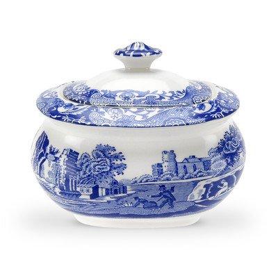 Blue Italian 9 oz. Sugar Bowl with Lid