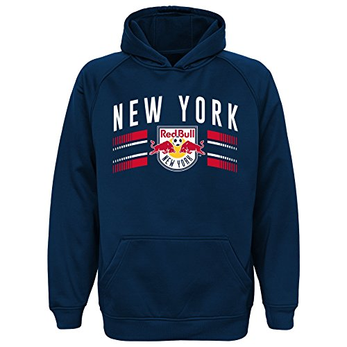 MLS New York Red Bulls Boys Performance Hoodie, Large/Size (14-16), New Navy