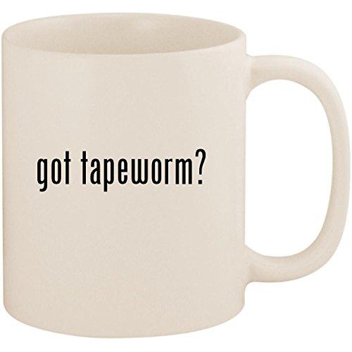 got tapeworm? - 11oz Ceramic White Coffee Mug Cup, White ()