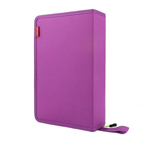 Travel Leather Cosmetic Brush Pen Holder (Purple) - 3