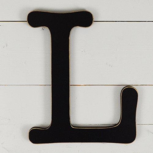 UNFINISHEDWOODCO 300571 Typewriter Wall Decor Letter L, 11.5'', Black by UNFINISHEDWOODCO