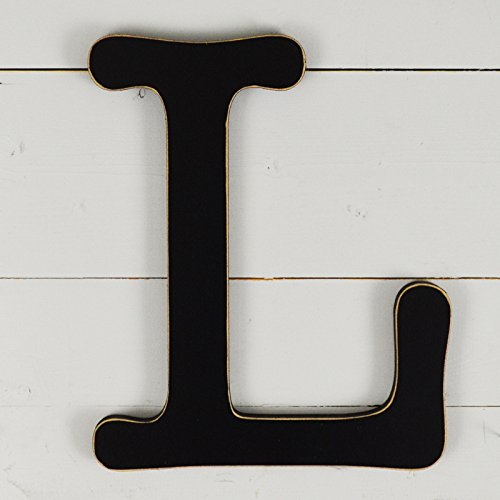11.5'' Typewriter Wall Decor Letter ''L''- black