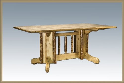 Montana Woodworks MWGCDPTN Glacier Country Collection Double Pedestal Dining Table