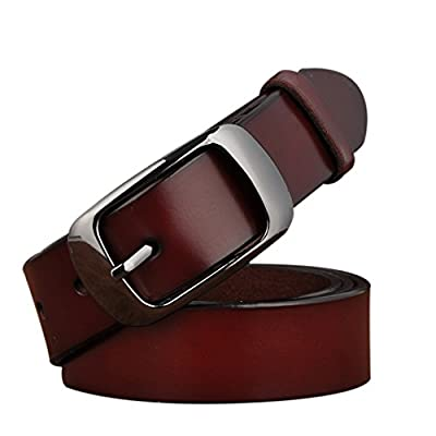 TUNGHO Simplicity Leather Belts For Women Polished Buckle Plus Size XXXL