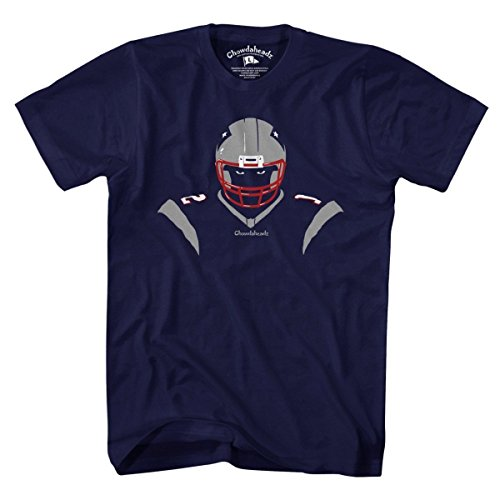 New England Angry Silhouette T-Shirt by Chowdaheadz - XL - England Silhouette
