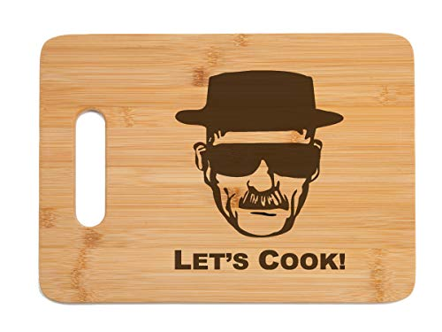 Breaking Bad Engraved Bamboo Wood Cutting Board with Handle Funny Gift for Father's Day Birthday Christmas