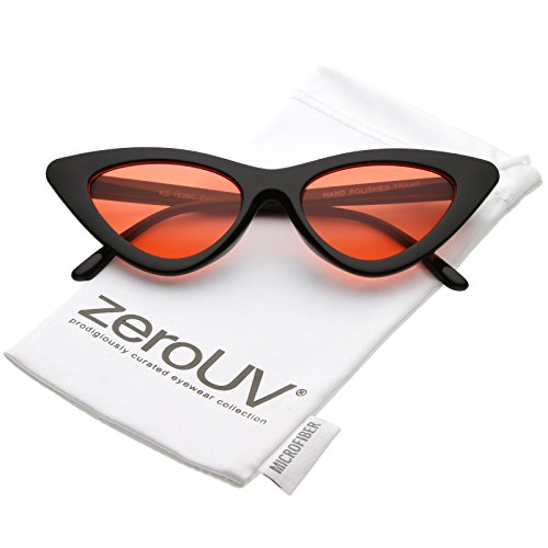 5c38952118 zeroUV - Womens Exaggerated Slim Black Frame Color Tinted Lens Cat Eye  Sunglasses 48mm - Buy Online in KSA. zerouv products in Saudi Arabia.