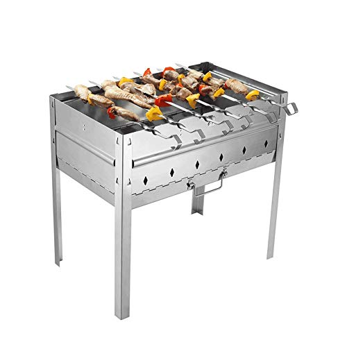 - LifeX Portable Smoker BBQ Charcoal Grill Outdoor Foldable Stainless Steel Foldable Barbecue Grill with Storage Bag for Cooking Camping Hiking Picnics Party