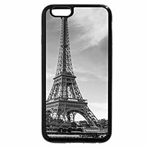 iPhone 6S Case, iPhone 6 Case (Black & White) - tour boats on the seine river by the eiffel tower