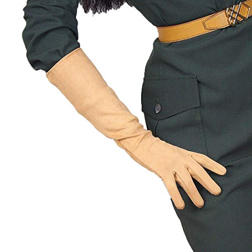 (Suede Long Gloves Faux Leather 16