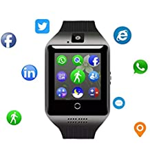 Smartwatch for Android - Smart Watch Fitness Tracker with Heart Rate & Blood Pressure & for Women Men - Waterproof Activity Tracker with Pedometer & Calorie Counter (Black)