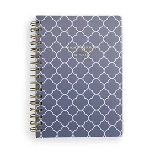 momAgenda Desktop Spiral Day Planner (July 2019 - December 2020) Organize Your Busy Life with The Convenient Week-at-A-View Layout. Quotes Included Each Week for Motivation (Navy Clover)
