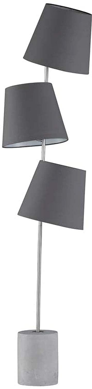 Stehleuchte Honsel Durak 41270 Standlampe 3 Schirme Grau Nickel Beton Schalter