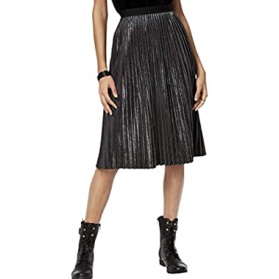 Armani Exchange Womens Pleated Office A-Line Skirt