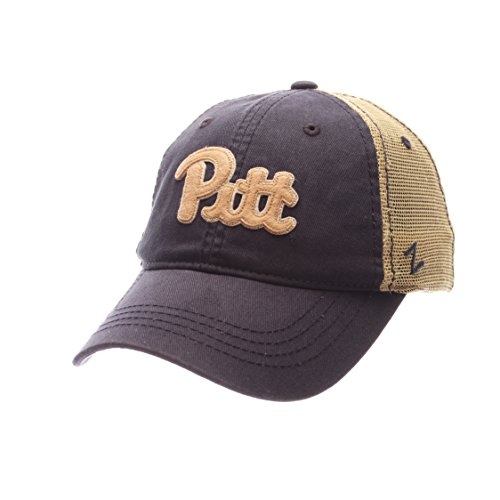 NCAA Pittsburgh Panthers Adult Men Springtime Relaxed Cap,Adjustable,Navy (Applique Pittsburgh Ncaa Panthers)