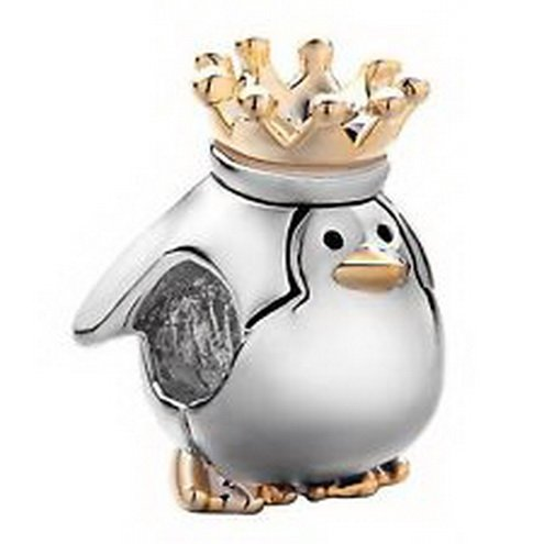 [Dan Smatree The Beads Pugster Charm Beads Penguin with Crown In stock Hard to find] (In Stock Hip Hop Costumes)