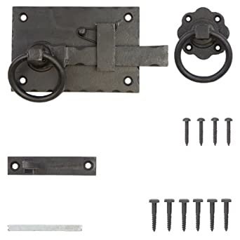 Hand Forged Cottage Door Latch Black Beeswax Left or Right Handed  Right  Hand  by Bridewell Ironmongery. Amazon com  Hand Forged Cottage Door Latch Black Beeswax Left or