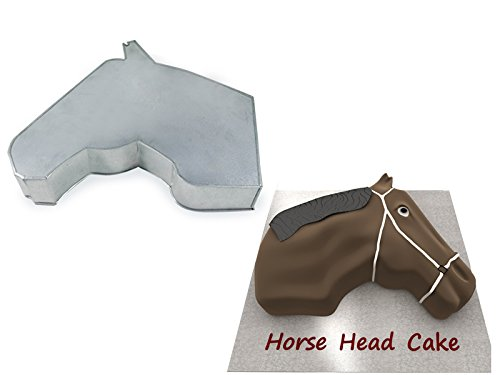 Horse Face Shaped Birthday Novelty Baking Cake Tin Pan (Cake Pan Mold Horse)