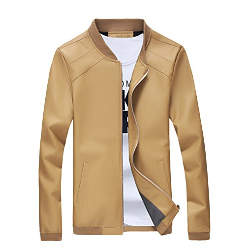 de Quality moda Leather Sizes XXL Stylish High Khaki hombres Zhuhaitf XL Jacket PU Mens 5XL 4XL XXXL U54qnX
