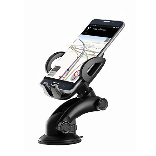 Price comparison product image Zilu CM012 Universal Dashboard & Windshield Car Phone Mount for iPhone 7 Plus 6s Plus SE Andorid Phones and other Smartphones-Retail Packaging …Black