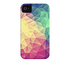 Abstract Polygon Multi Color iPhone 4/4s Heather Grey Barely There Phone Case