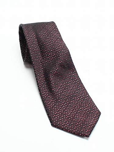 Klein Calvin Shimmer (Calvin Klein Mens Shimmer Logo Tie (Red, ONE SIZE))