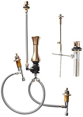 Delta Faucet 44-CZLHP Less Handles Classic Bidet Faucet, Champagne Bronze