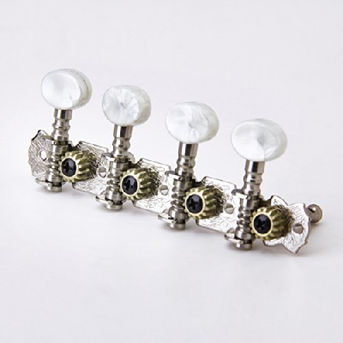 4 4 Mandolin Machine Heads Tuning Clavijas Afinadores W White Pearl Button Buje De Tornillo