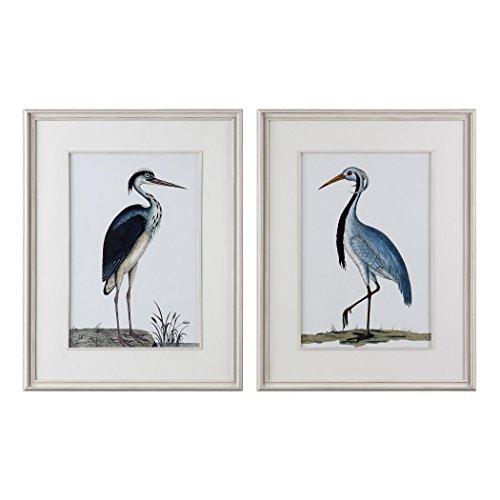 Uttermost Glass Print (2-Pc Shore Birds Framed Prints Wall Art Set)