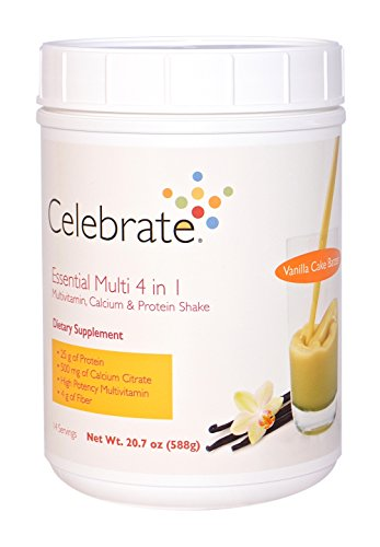 Celebrate Essential Multi 4 in 1 Shake – Vanilla Cake Batter – 14 Servings