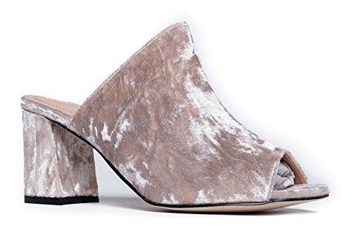 J. Adams High Heel Sandal Mule - Comfortable Everyday Slip On Heel - Trendy Cute Slipper Shoe - Peace by