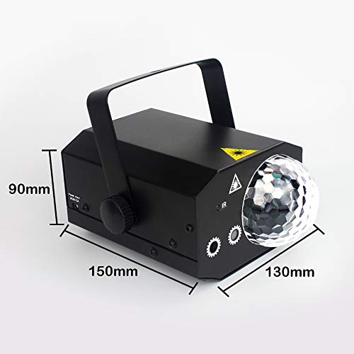 Party Lights + Disco Ball GOOLIGHT Dj Disco Lights LED Stage Light Projector Strobe lights Sound Activated with Remote Control for Xmas Club Bar KTV Holiday Dance Christmas Birthday Home Decoration by GOOLIGHT (Image #4)