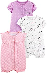 Simple Joys by Carter's Baby-Girls 3-Pack Snap-up Rom