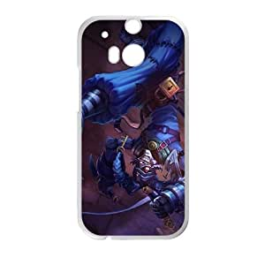HTC One M8 Cell Phone Case White Shaco league of legends L4K6AB