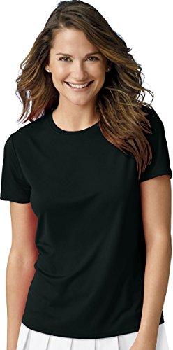 Hanes Women's Cool DRI T-Shirt_Black_X-Large Plus