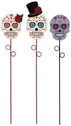 Sunset Vista Skull Plant Pick Set of 3 Assorted]()