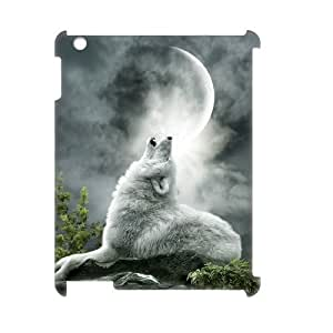 ALICASE Diy Cover Custom Case Wolf Howling For IPad 2,3,4 [Pattern-1]