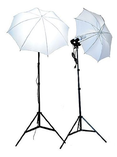 ePhoto 4 BULBS DOUBLE HEAD PHOTO STUDIO PHOTOGRAPHY VIDEO UMBRELLA LIGHT LIGHTING SET by ePhotoinc