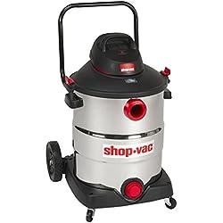 Shop-Vac 5989700 16 gallon 6.5 Peak HP Stainless with Handle Wet Dry Vacuum, Black