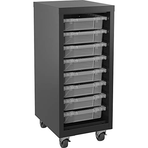 Lorell Pull-Out Bins Mobile Storage Tower