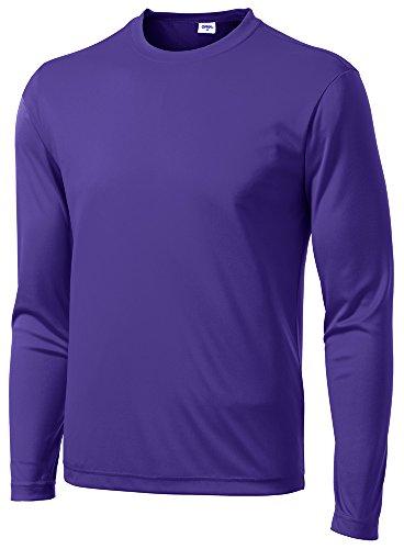(Opna Men's Long Sleeve Moisture Wicking Athletic Shirts Purple-S)