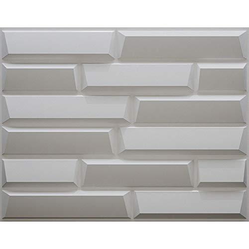 Art3d Decorative 3D Panels Sandstone Design Pack of 6 Tiles Cover 32 SqFt,Size 24.6