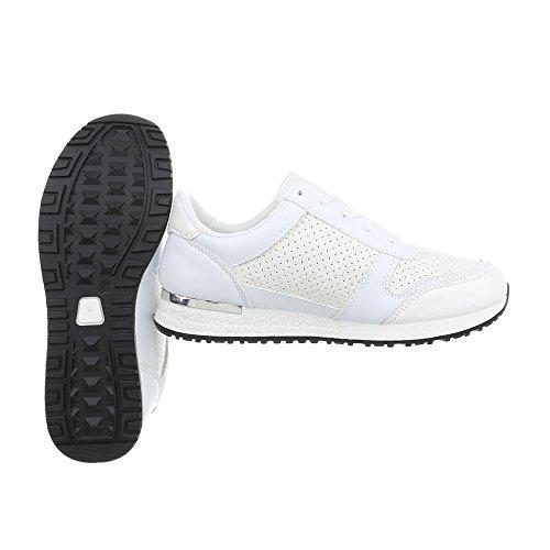 58 Zapatillas Zapatos Bajas para D Design Zapatillas Blanco Plataforma Mujer Ital IvBq5
