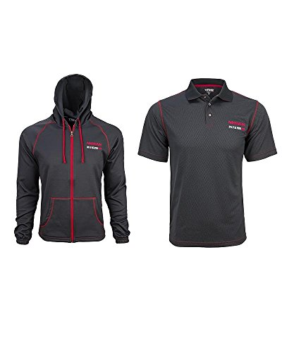 Nismo Full Zip Carbon Fiber Hoodie & Polo Shirt Combo (Large)