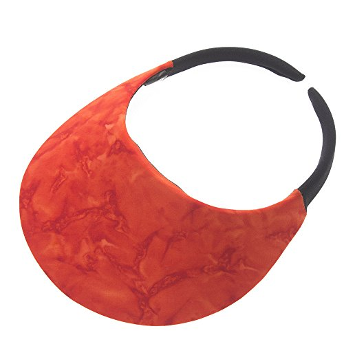 The No Headache Midsize Womens Sun Visor Hat (Marble Flame - Visor Hat Flame