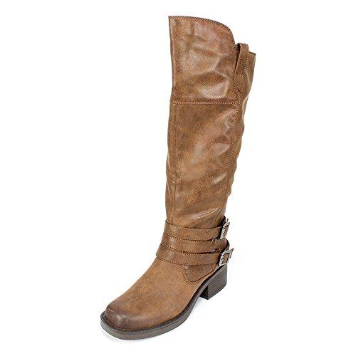 White Mountain Women's Gypsum Western Boot - Chestnut Fab...