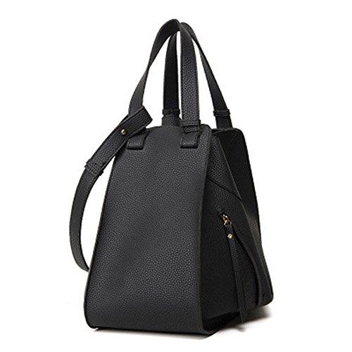 Xiekua Bolso GWQGZ Deformación Bolsa Capacidad Alta Negro Moda Paquete Portátil De Black La Nueva De qtqrAwnPS